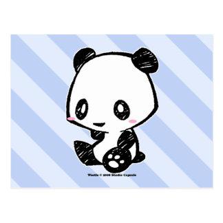 Weetle Panda Postkarte