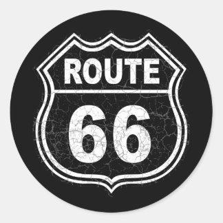 Weg 66 beunruhigt aufkleber