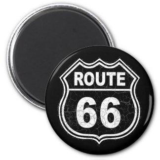 Weg 66 beunruhigt runder magnet 5,7 cm