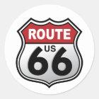 Weg 66 historischer US-Landstraßen-Aufkleber Runder Aufkleber