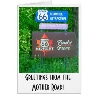 Weg 66 - Illinois - Funk-Waldungs-Gruß-Karte Karte