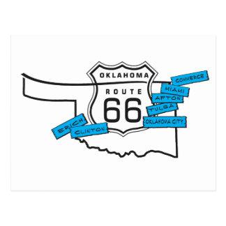 Weg 66 Oklahoma-Postkarte Postkarte