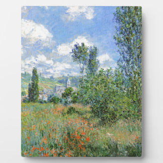 Weg auf den Mohnblumen-Gebieten - Claude Monet Fotoplatte