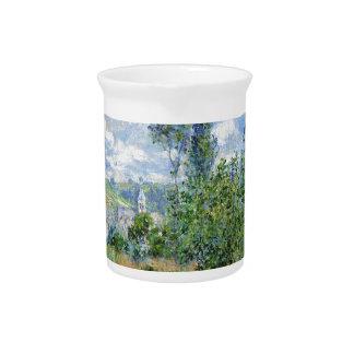Weg auf den Mohnblumen-Gebieten - Claude Monet Getränke Pitcher