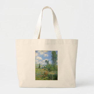 Weg auf den Mohnblumen-Gebieten - Claude Monet Jumbo Stoffbeutel