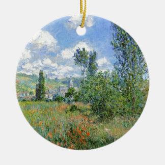 Weg auf den Mohnblumen-Gebieten - Claude Monet Rundes Keramik Ornament