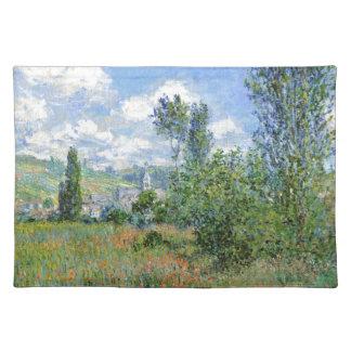 Weg auf den Mohnblumen-Gebieten - Claude Monet Stofftischset