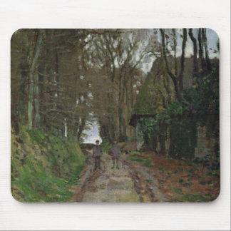 Weg Claude Monets   in Normandie Mousepads