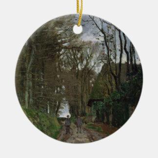Weg Claude Monets | in Normandie Rundes Keramik Ornament