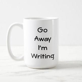 Weg gehe ich schreibe kaffeetasse