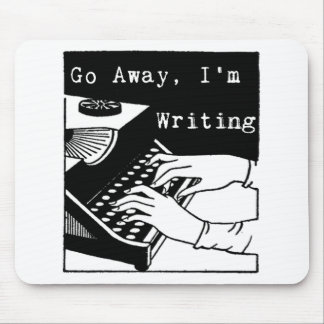 Weg gehe ich schreibe Schreibmaschine Mousepad