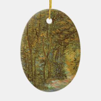 Weg im Holz durch Vincent van Gogh, Vintage Kunst Keramik Ornament