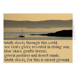 Weg langsam - ein Gebet in der keltischen Art Karte