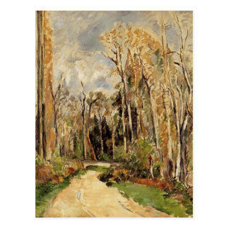 Weg Pauls Cezanne- am Eingang zum Wald Postkarte