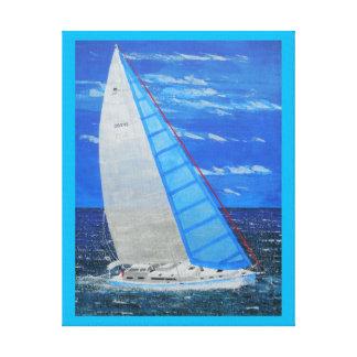 Weg segeln leinwanddruck