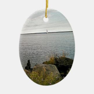 weg segeln ovales keramik ornament