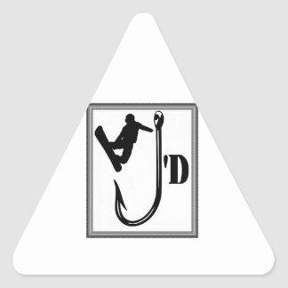 Weg vom Haken Dreieckiger Aufkleber