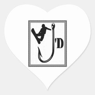 Weg vom Haken Herz-Aufkleber