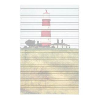Weg zum Leuchtturm gezeichneten Briefpapier