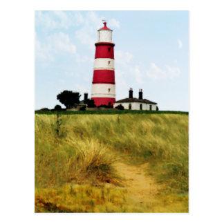 Weg zur Leuchtturm-Postkarte Postkarte