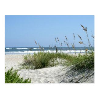 Weg zur Meer-Ocracoke Insel Postkarte