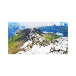 Wege in den Schweizer Alpen Leinwanddruck
