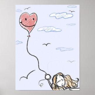Weggeschaffen durch Liebe-Plakat Poster