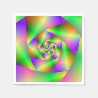 Wegwerfservietten-psychedelische Spirale Papierserviette