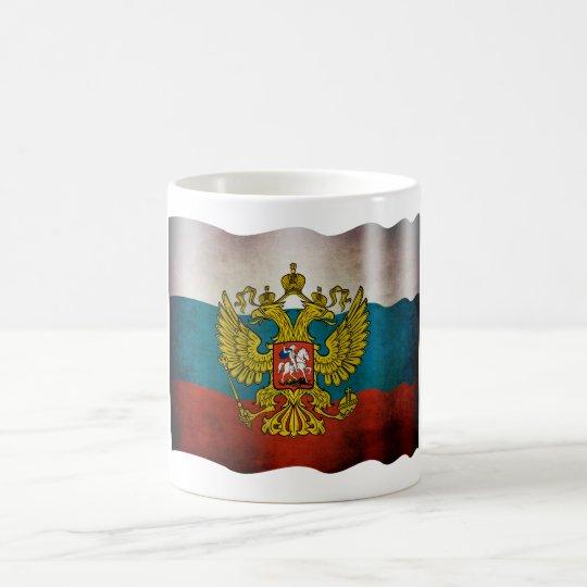Wehende Flagge von Russland Kaffeetasse