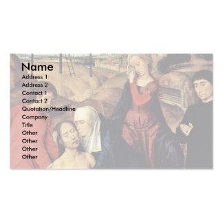 Wehklage von Christus mit Spendern durch Memling Visitenkarten Vorlagen