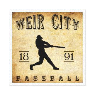 Wehr-Stadt-Kansas-Baseball 1891 Gespannte Galeriedrucke