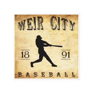 Wehr-Stadt-Kansas-Baseball 1891 Leinwanddruck