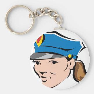 Weiblich-Polizeioffizier Schlüsselanhänger