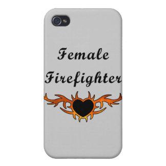 Weibliche Feuerwehrmann-Tätowierung Hülle Fürs iPhone 4