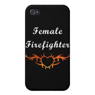 Weibliche Feuerwehrmann-Tätowierung iPhone 4/4S Case
