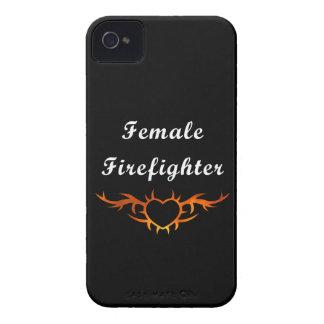 Weibliche Feuerwehrmann-Tätowierung iPhone 4 Etuis