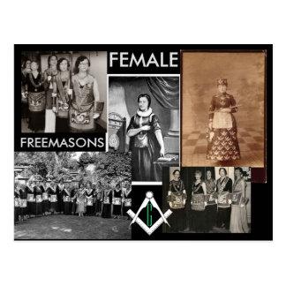 Weibliche gemischte Medien der Freimaurer-| durch Postkarte