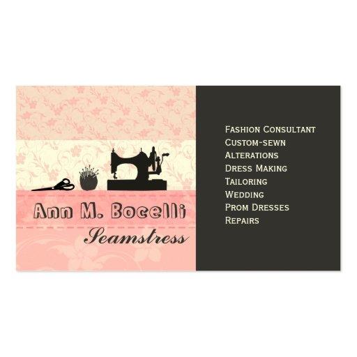 Weibliche handgemachte Mode Moda Visitenkarten