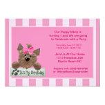 Weibliche Haustier-Geburtstags-Party Einladung 12,7 X 17,8 Cm Einladungskarte