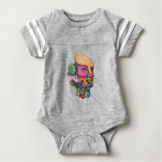 Weibliche Humanoid-Roboter-Kopf-Tätowierung Baby Strampler