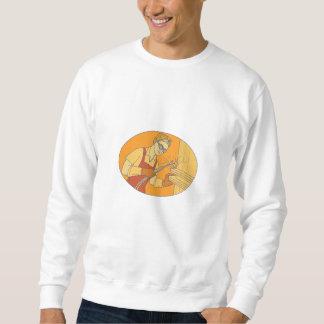 Weibliche Schweißer-Acetylenschweißen-Vintage Sweatshirt