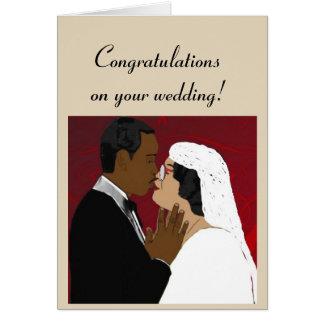 Weibliche und männliche Hochzeit Karte