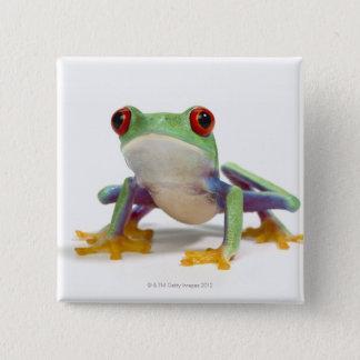 Weiblicher Frosch 2 Quadratischer Button 5,1 Cm