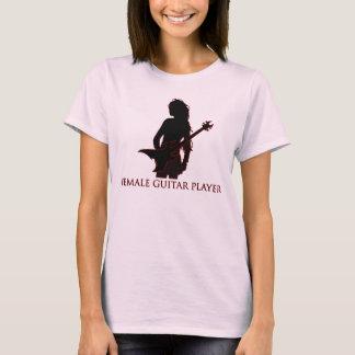 Weiblicher Gitarrist T-Shirt