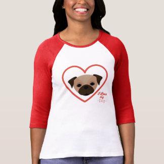 Weiblicher Jersey mit Ärmel pug T-Shirt