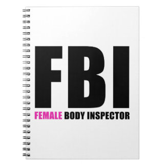 Weiblicher Körper-Inspektor FBI Spiral Notizblock