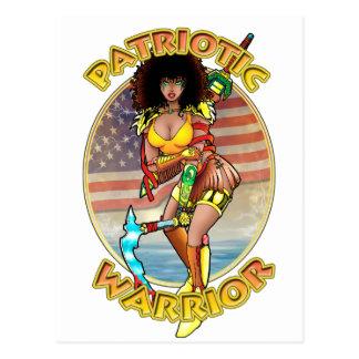 Weiblicher patriotischer Krieger Postkarte