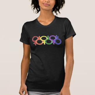 Weiblicher Regenbogen T-Shirt