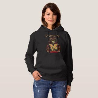 Weiblicher Schwarzer Moleton - Debreed Official Hoodie