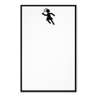 Weiblicher Tennis-Spieler - Tennis-Symbol Briefpapier